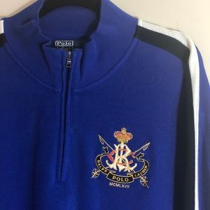 Polo Blue Pullover Sweater with RL Shield Size XXL